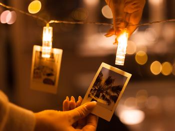 LED-slynge med fotoklyper