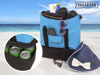 Vagaborn 2-i-1 strandveske med kjølelomme