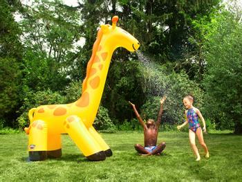 Vannspreder Gigantisk oppblåsbar sjiraff