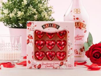 Baileys Strawberries & Cream sjokoladehjerter