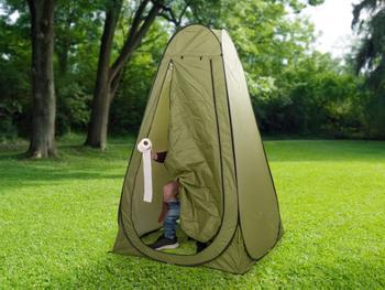 Outlust Pop up-telt med campingtoalett