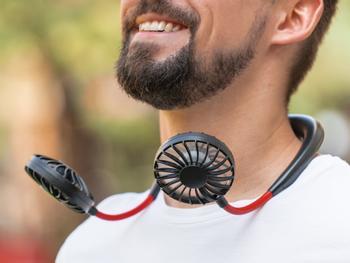 Spralla Bærbar vifte med halsbøyle
