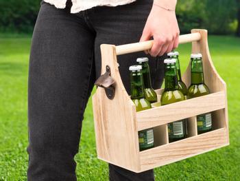 Flaskeholder i tre