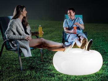 Intex oppblåsbar LED-sittepuff