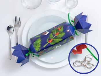 Christmas Crackers med pusleleker i metall 4-pakni