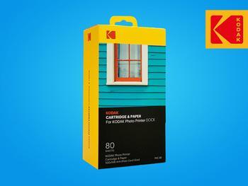 Kodak Printer Dock Foto- og Fargekassett 80-pakni