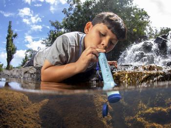 LifeStraw vannrensende sugerør