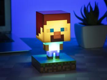 Minecraft Steve Icon-lampe