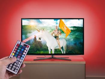 LED-lysslynge til bakgrunnsbelysning for TV