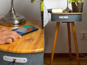 Vooni høyttalerbord med trådløs lading