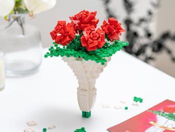 Spralla blomsterbukett 3D-byggesett