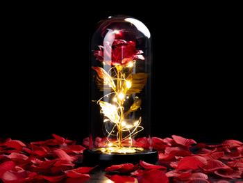 Spralla® Fortryllet rose-lampe