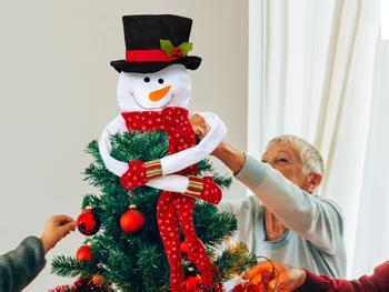 Spralla® Snømann juletrepynt