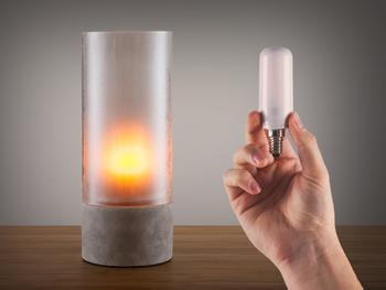 Flammende LED-pære