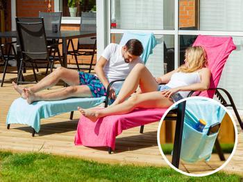 Spralla håndkle til solsengen